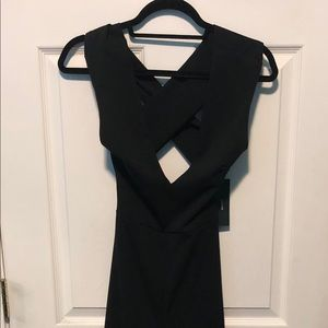 Lulus Thinking Out Loud Black Backless Jumpsuit Sm